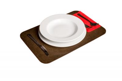 Tisch-Set braun